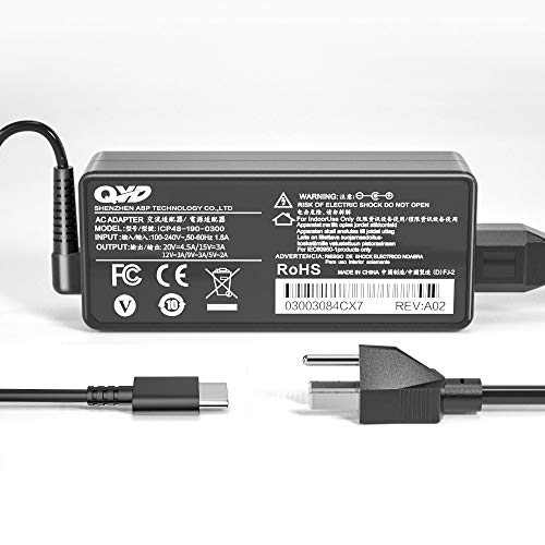 CYD 90W USB Type C Replacement for Laptop-Charger Dell Vostro 14 5490 XPS 12 9250 Latitude 11 5175 5179 12 7275 370 7375 13 7370 E6440 Vostro 14 5490 Power Supply Cord Cable