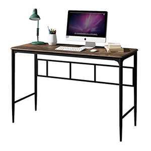 O&K Furniture Computer Desk, Industrial Computer Table Office Desk Workstation for Home Office,47 inch Study Writing Desk,Brown