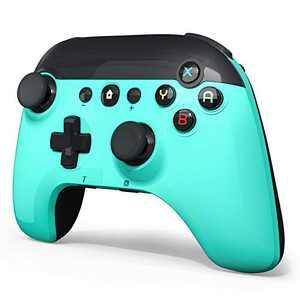 Wireless Pro Game Controller for Switch/PC , BestOff Pro Gamepad Dual Motor Dual Vibration Shock Joystick Wireless-Green