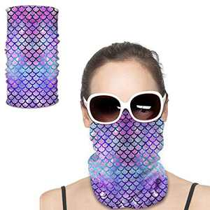 Face Masks Mermaid Scales Dust-Proof Windproof Bandanas