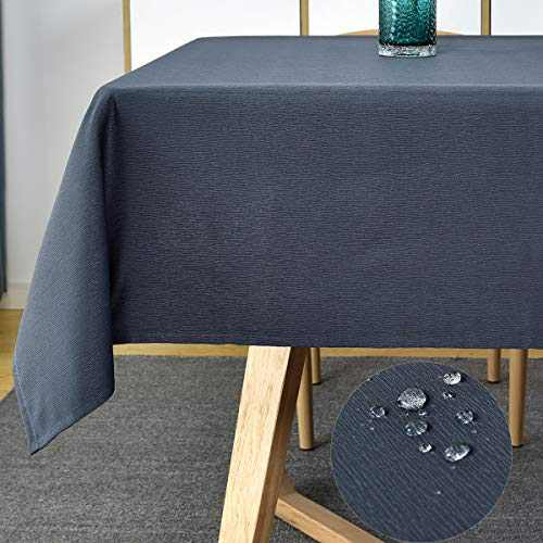 """Rectangle Tablecloth-Swirl Style Tablecloths Spill-Proof Table Cloth Shrink Resistant Table Cover Wrinkle Free Tabletop for Kitchen Dining Patio (Rectangular/Oblong,52""""x70""""(4-6 Seats),Navy Blue)"""