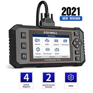 FOXWELL NT614 Elite OBD2 Scanner,[2021 New Version] ABS SRS Engine Transmission Diagnostic Tool with Oil Light & EPB Reset, Engine Scanner Code Reader, Airbag SRS Car Scanner Diagnostic for All Cars