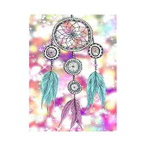 AMEMNY DIY 5D Wind Chimes Diamond Painting Kits for Adult Painting by Number Kit Round Drill Embroidery Cross Stitch Pink Diamond Painting Set for Indoor Wall Decoration Gifts Arts and Crafts