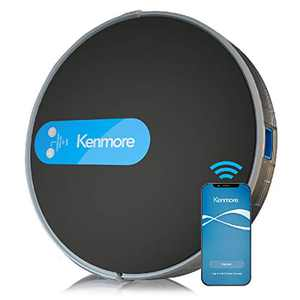 """Kenmore 31510 Robot Vacuum Cleaner 1800Pa Suction 3"""" Slim Quiet Self-Charging Robotic Vacuum with Stair Sensor,Spot Cleaning, Boundary Strips Works with Alexa for Pet Hair, Hardwood Floors, Carpet"""
