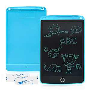 Enotepad LCD Writing Tablet 1 Pack, 8.5 Inch Drawing Board with 2 Magnets, Erasable Handwriting Pad, Portable LCD Doodle Board, Electronic Children's Tablet Writing Pad Blue for Home School Office