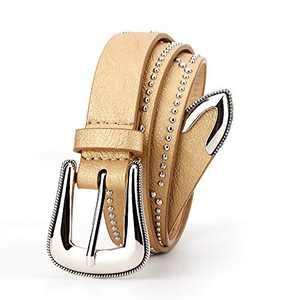 Radmire Womens Western Vintage Belts for Jeans Pants Gold