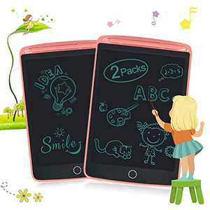 2 Packs LCD Writing Tablets for Kids, Drawing Doodle Board 8.5 Inch Electronic Graphics for Children, Portable Digital eWriter Pink+Pink