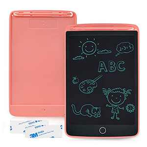 Enotepad LCD Writing Tablet 1 Pack, 8.5 Inch Drawing Board with 2 Magnets, Erasable Handwriting Pad, Portable LCD Doodle Board, Electronic Children's Tablet Writing Pad Pink for Home School Office