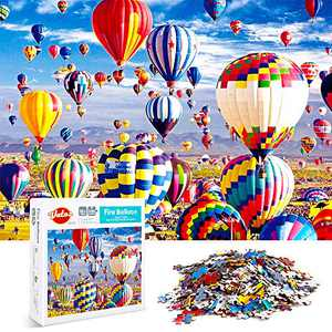 VATOS Puzzles for Adults 1000 Piece   Jigsaw Puzzle   Hot Air Balloon Puzzles   Fire Balloon Puzzle Game-Large Puzzle Game Artwork for Adults Teens
