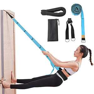 Diamerd Yoga Stretching Strap, Leg Stretcher Enhance Body Flexibility Stretch Out Strap with Aerial Yoga Swing Great for Ballet Yoga Cheerleading Normal Exercise Stretching (Sky Blue)…