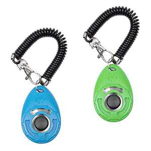 PetSpy Dog Training Clicker with Wrist Strap for Dog Recall, Bark Control - Complete Pet Training Kit (2 Clickers)