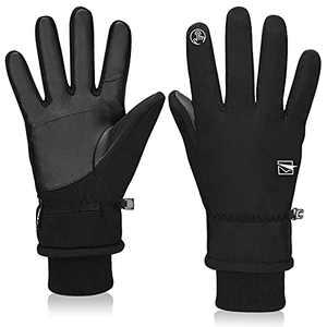 Cevapro -30℉ Winter Gloves Touchscreen Waterproof Running Gloves Cold Weather Thermal Ski Gloves for Men Women Running