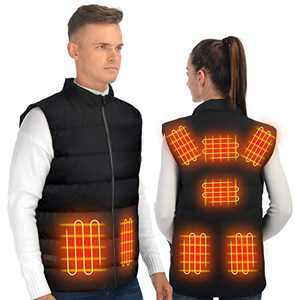 ISOPHO Heated Vest Women with 85% Down Insulation and USB 3 Group Control Buttons XL (Not Including Power Pack)