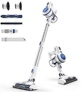 ORFELD Cordless Vacuum Cleaner, 20000Pa Stick Vacuum 6 in 1, Long Runtime, Lightweight & Ultra-Quiet for Hard Floor Carpet Pet Car Cleaning Blue & Silver, V20