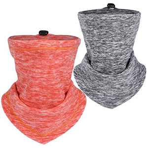 IIY Winter Neck Warmer Face Cover/Neck Gaiter Face Scarf/Adjustable Drawstring Face Mask-Winter Ski Mask for Cold Weather