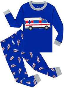 Little Boys Truck Pajamas Christmas Toddler Kids Ambulance Sleepwear Girls Long Sleeve Clothing Pants Set 8t