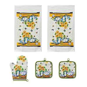 URED 5pcs Sunflowers Kitchen Decor,Kitchen Towels and Dishcloths Sets,Farmhouse Kitchen Decor,Professional Dish Towels for Drying Dishes £¬Kitchen Essentials for New Home Dish Towels