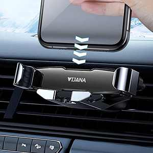 Car Phone Holder Mount Cell Phone Gravity Holder for Car Vent Universal Phone Stand 360 Adjustable Automatic Retractable Clip for 4 to 6.5 inches Smartphones