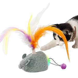 TITIPET Interactive Cat Toy, Motion Activated USB Rechargeable Automatic Cat Toys for Indoor Cats/Kitten with Feather (Smart Toy)