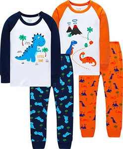 Boys Cute Dinosaurs Pajamas Christmas Children Clothes Toddler Kids School Pyjamas Clothing Set Size 7
