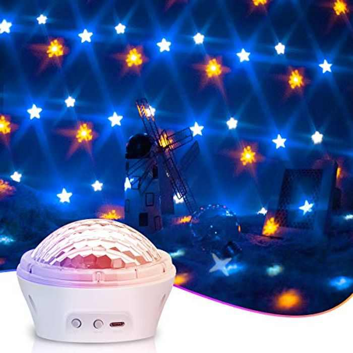Star Projector Night Light, Sky LED Night Light Lamp Timer Design & 4 Modes & 3 Level Dimmable Display Romantic Ambiance Night Light,Best Gift for Baby Kids Adults, Room Home Decor,Game,Theatre Home