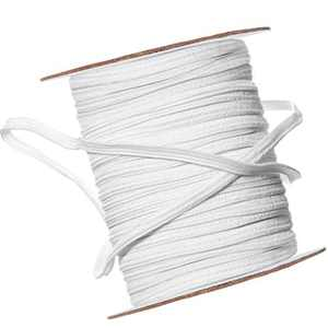 White Wide Sewing Elastic Knit Elastic Spool (1/4 Inch x 55 Yards)
