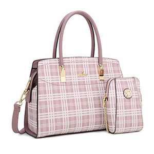 Angel Kiss Women Handbags and Purses Top Handle Satchel Purses Designer Tote for Women Work Bag with Wallet