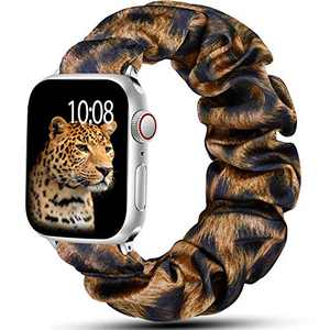 Muranne Bands Compatible with Apple Watch Band SE 42mm 44mm iWatch Series 6 5 4 3 2 1 for Women Men Cheetah Print 42mm/44mm Large