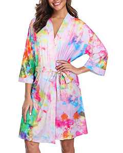 GOOTUCH Women Kimono Robes Lightweight Soft Bathrobe Ladies Nightwear Sleepwear Loungewear(Floral 03,M)