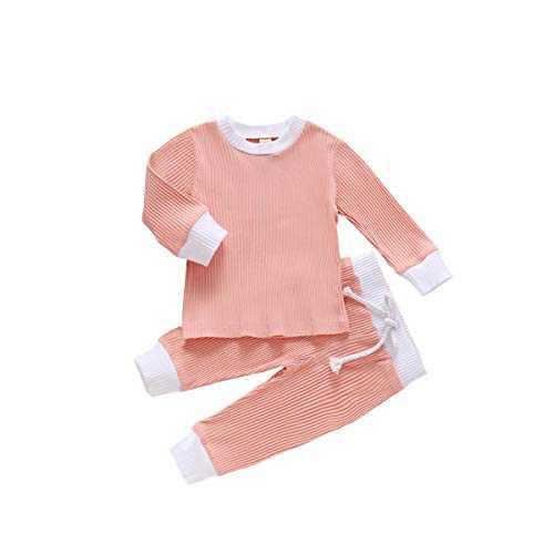 Infant Toddler Baby Boy Girl Clothes 2 PCS Autumn Outfits Top Shirt+Drawstring Long Clothing Pants Set