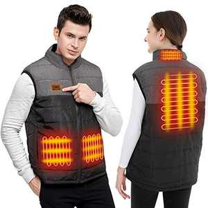 socathey Heated Vest, Heating Jacket for Men and Women, USB Electric Warmer Clothes for Outdoor Motorcycle, Camping, Hiking, Hunting, Powered by 5V 2A Power Bank (Not Include) - M