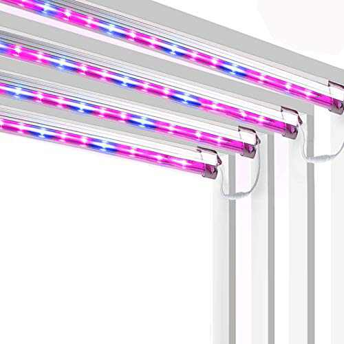 LED Grow Light for Indoor Plants Kammoy Sunlike Full Spectrum Plant Grow Lamp with Magnetic Disk,Glue-Free Magnetic Adsorption Fixation 3 6 12H Timer for Rent Seedling Hydroponics (Red/Blue/White