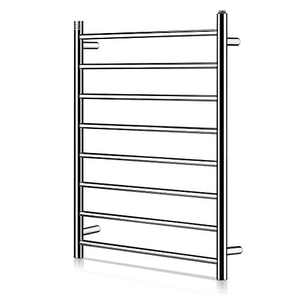 Homeleader Stainless Steel Towel Warmer, 8 Bars Heated Towel Rack and Drying Rack, Built-in Thermostat, Wall-Mounted & Plug-in Design, Chrome
