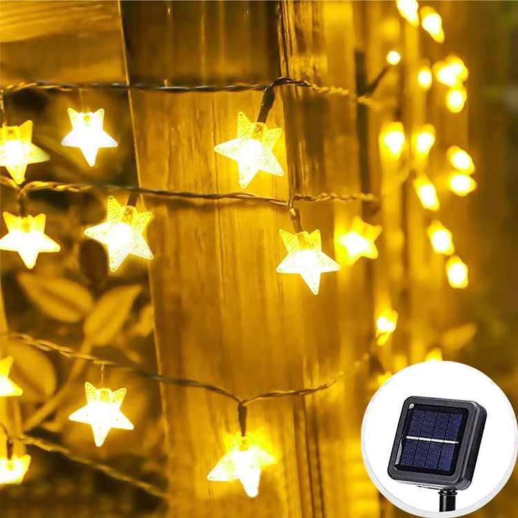 Outdoor Solar String Lights for Garden 1800Mah11M 60 LED Solar Garden Lights Outside IP44 Waterproof Solar Powered Outdoor Lighting with 8 Modes for Garden, Patio, Yard,Tree Decoration