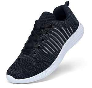 VOSTEY Men's Running Shoes Sneakers for Men Athletic Shoes Black Running Shoes for Men Black Sneakers Mens Walking Shoes Mesh Sport Shoes (10.5,Black)