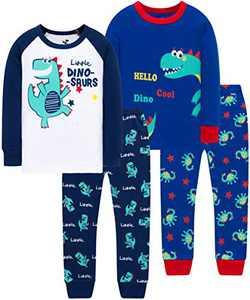 Little Boys Cool Dino Pajamas Christmas Girls Dinosaurs School PJs Toddler Kids Clothing Set Size 6