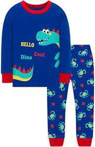 Christmas Boys Dino Pajamas Children Cotton Cute Dinosaurs Jammies Girls Clothing Set 3t