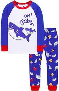 Boys Sharks Pajamas Children Christmas Cotton Pjs Jammies Baby Girls Gift Clothing Set 6t