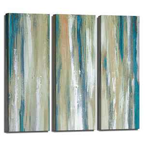 ATOBART Vintage Abstract Canvas Wall Art Wall Painting Framed Home Decor Artwork Contemporary Wall Art for Living Room Decor Bedroom Office Decoration Ready to Hang Friends Gifts 3Panels-12x36