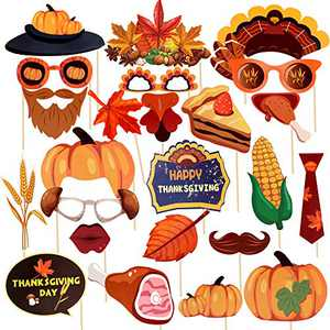Jblcc Thanksgiving Photo Booth Props - Thanksgiving Party Decorations Supplies (25PCS)