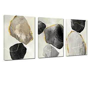 Canvas Wall Art Stone Abstract Artwork Canvas Prints Home Decoration for Living Room Bedroom Decorative Painting (stone, 16x24inch)