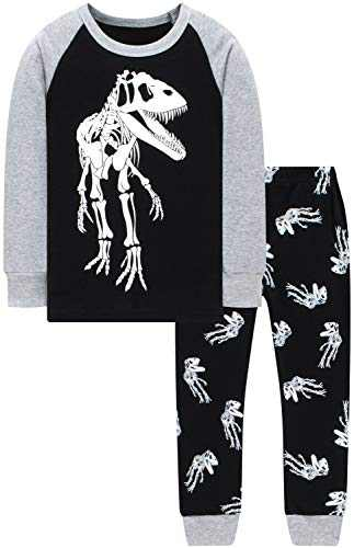 Pajamas For Boys Christmas T-Rex Pjs Girls Glow In The Dark Dinosaurs Sleepwear Kids Gift Set Size 2