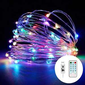 Fairy Lights, MSKJ Waterproof 16.4ft Fairy Lights, Music Sync Twinkle led String Lights 12 Lighting Modes USB Plug in with Remote Controls Festivals Party Home Decor