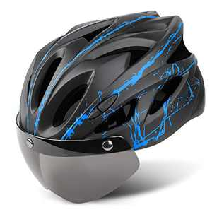 Joddmoka Bike Helmet Adult CPSC&CE Certified for Bicycle Cycling Road Mountain Helmet with Removable and Goggle Fit Men/Women 22.8-24.4 in