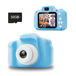 Jogotoll Kids Camera,Best Birthday Gifts for Boys Age 3-8, 20.0MP Digital Dual Camera for Boys, Electronic Toy for 3 4 5 6 7 8 Year Old Boy with 32GB SD Card(Blue)