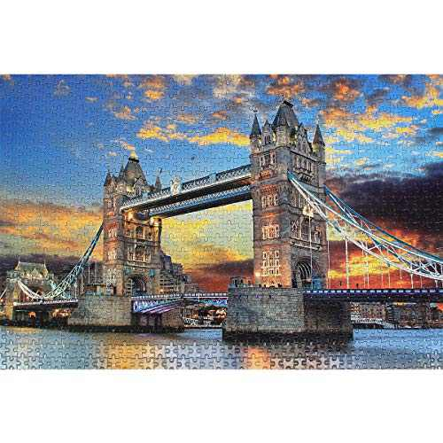 Jigsaw Puzzles 1000 Pieces for Adults - the London Tower Bridge