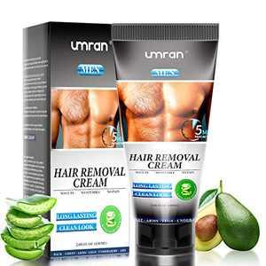 Hair Removal Cream, UMRAN Premium Depilatory Cream, Fast & Effective Hair Remover, Skin Friendly & Fast & Effective - Smoothing Hair Remove Cream Infused with Aloe Vera, Skin friendly Hair Removal