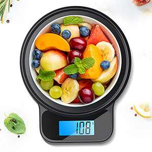 NicewellKitchen Scale, with Pastry Mat, Highly Accurate Digital Food Scale 13 lbs 6kgs Max, Clean Modern Black Finish. Includes Batteries