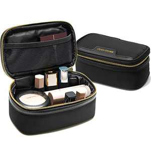 Rownyeon Travel Bag for Makeup Small Makeup Case Waterproof Portable Makeup Organizer Bags Cosmetic Lipstick Pouch Toiletry Bags for Women