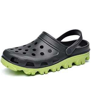 MAFEKE Unisex Garden Clogs Sandals Slippers Slip on Lightweight Casual Shoes(DarkGreen US Women 7.5 B(M) Men 6.5 D(M)